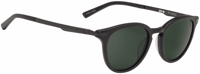 Spy Pismo Sunglasses<br>Matte Black/Happy Gray Green Polar