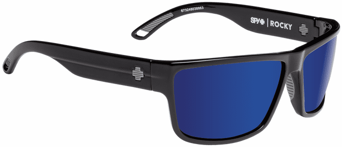 Spy Rocky Sunglasses<br>Black/Happy Bronze Polar w/Blue Spectra