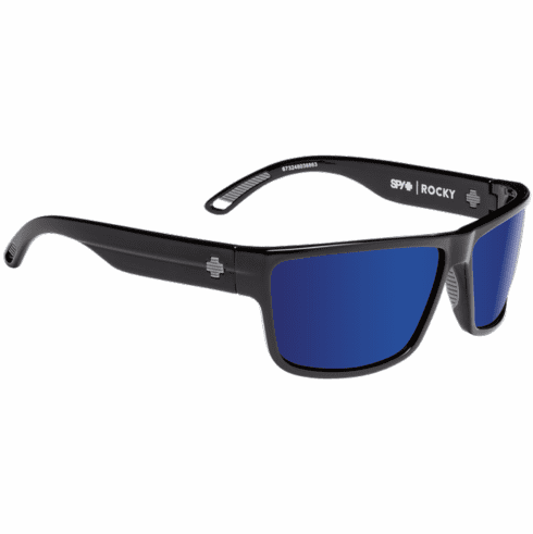 Spy Rocky Sunglasses<br>Black/HD Plus Bronze Polar w/Blue Spectra Mirror