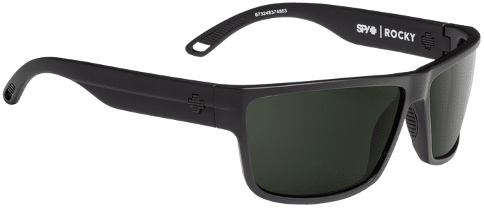 Spy Rocky Sunglasses<br>Matte Black/Happy Gray Green Polar