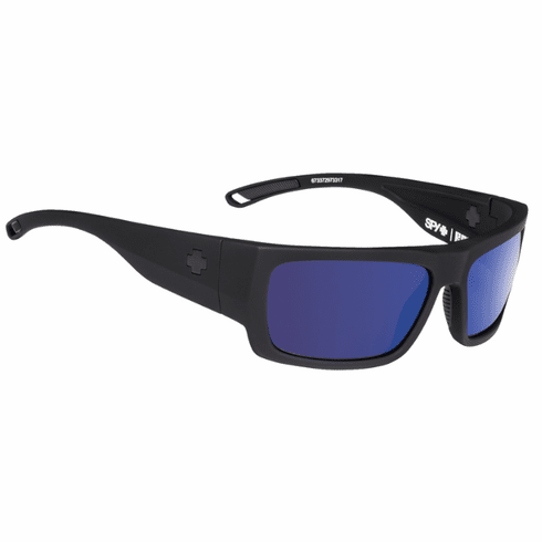 Spy Rover Sunglasses<br>Soft Matte Black/Happy Grey Green Polarized