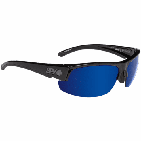 Spy Sprinter Sunglasses<br>Black ANSI Rx/Happy Bronze Polar w/Dark Blue Spectra