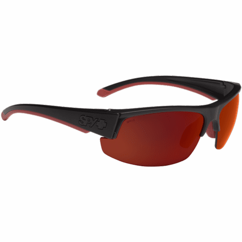 Spy Sprinter Sunglasses<br>Matte Black ANSI Rx/Happy Gray Green w/Red Flash