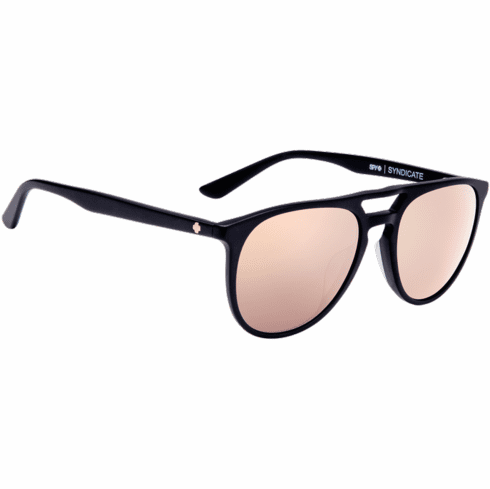 Spy Syndicate Sunglasses<br>Matte Black/Happy Bronze W/ Rose Quartz Spectra Mirror