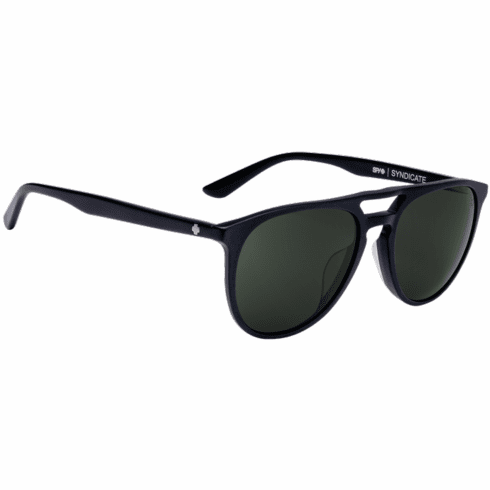 Spy Syndicate Sunglasses<br>Matte Black/Happy Gray Green
