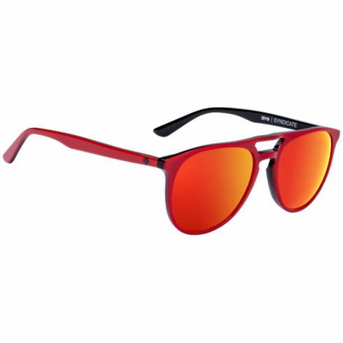 Spy Syndicate Sunglasses<br>Red-Black/Happy Gray Green W/ Red Spectra Mirror