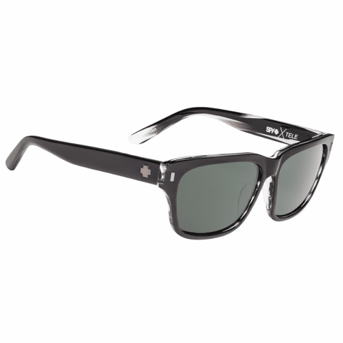 Spy Tele Sunglasses<br>Crosstown Collection<br>Black Horn/Happy Grey Green