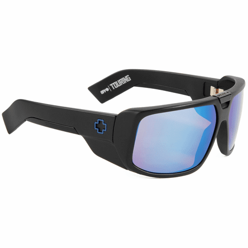 Spy Touring Sunglasses<br>Matte Black/HD Plus Bronze w/Blue Spectra Mirror