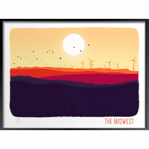 The Midwest Art Print