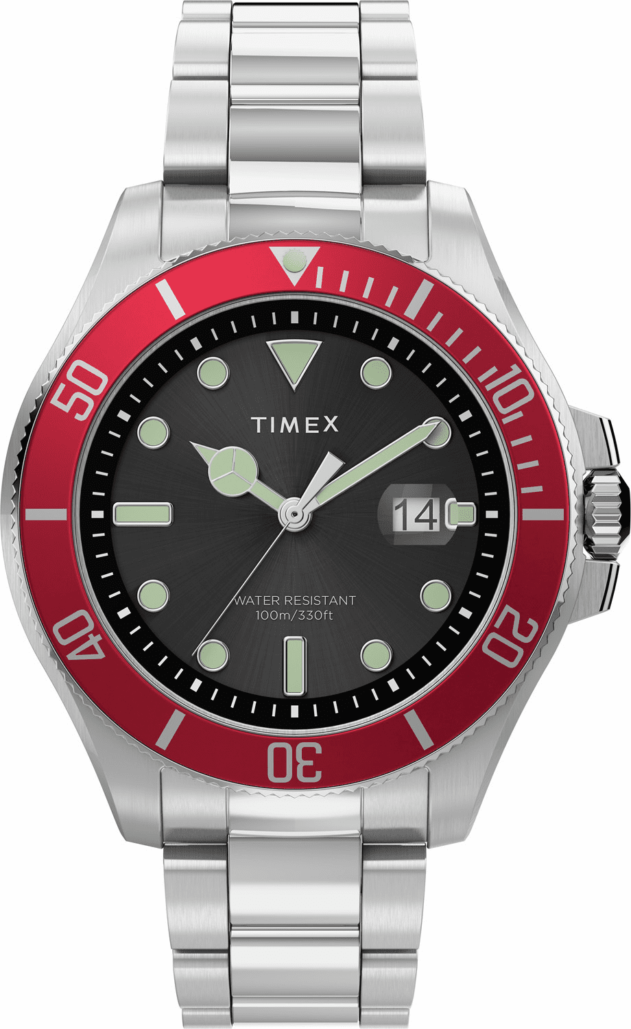 Timex Harborside Coast Watch<br>Silver/Red