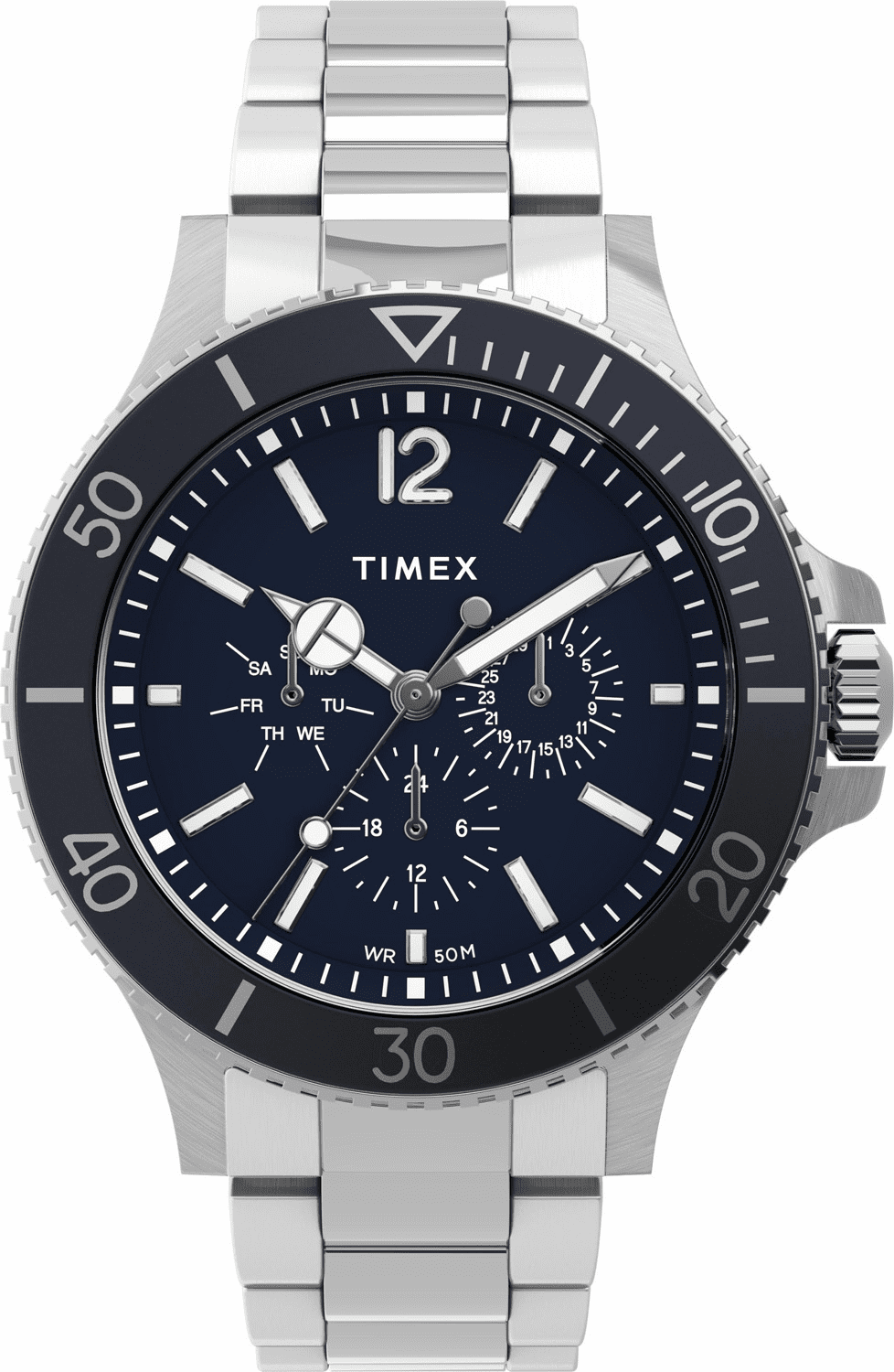 Timex Harborside Multifunction Watch<br>Silver/Blue