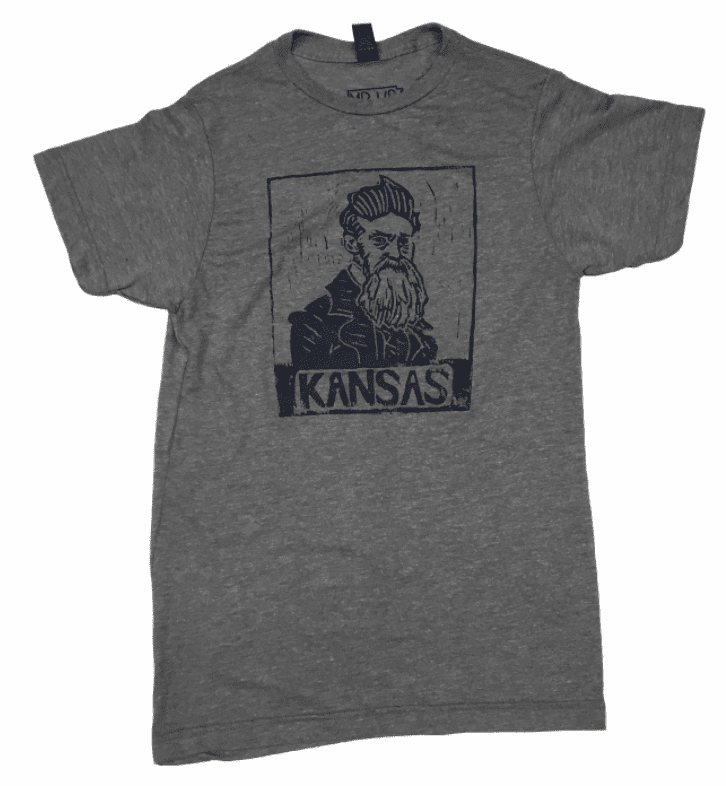 Unisex Bunker x Mister Kansas Collab<br> John Brown Grey Tee
