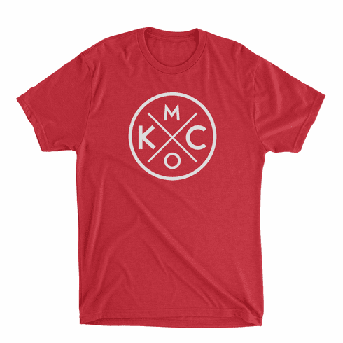 Unisex KCMO Red Tri-blend Tee