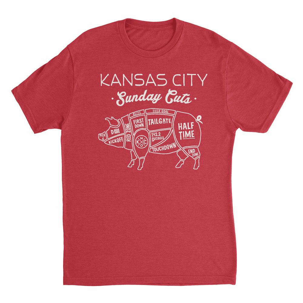 Unisex Sunday Cuts Tee<br>Red
