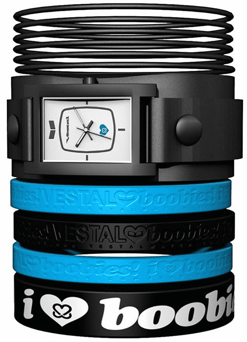 Vestal Electra Jelly Watch<br>Black/White/Blue