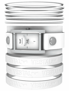 Vestal Electra Jelly Watch<br>White/Silver