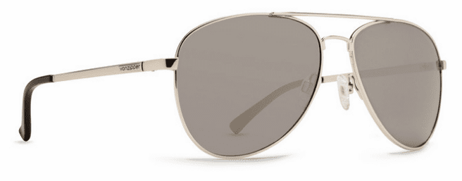 Von Zipper Farva Sunglasses<br>Silver Gloss/Grey Chrome