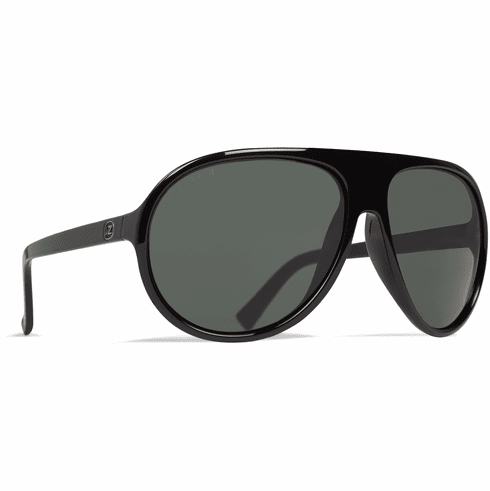 Vonzipper Rockford III Sunglasses<br>Black Satin/Wild Vintage Grey Polar