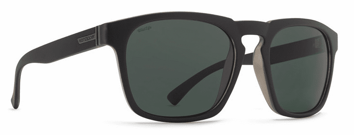 (SALE!!!) VonZipper Banner Sunglasses<br>Black Smoke Satin/Vintage Grey Polarized
