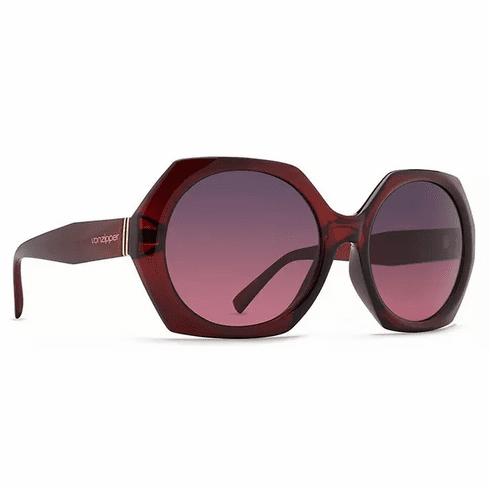(SALE!!!) VonZipper Beulah Sunglasses<br>Ruby Translucent/Grey Rose Gradient