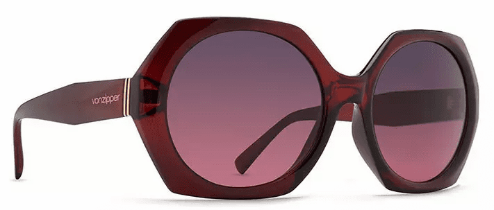 VonZipper Beulah Sunglasses<br>Ruby Translucent/Grey Rose Gradient