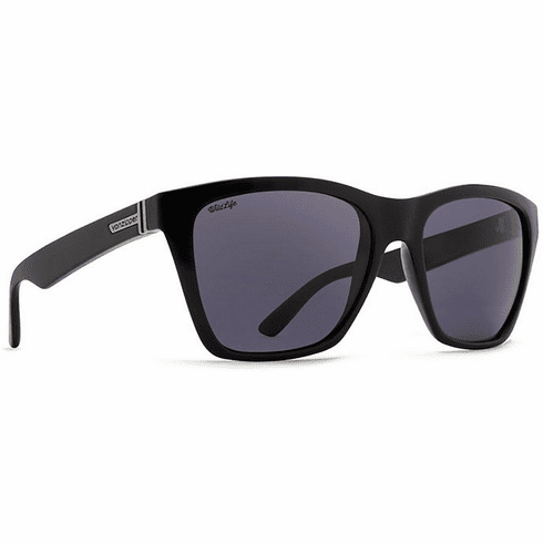 (SALE!!!) VonZipper Booker Sunglasses<br>Black Gloss/Wild Vintage Grey Polar