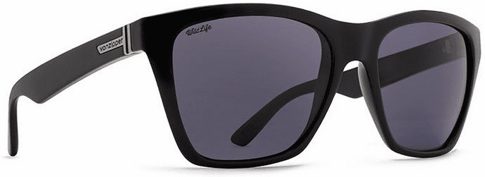 VonZipper Booker Sunglasses<br>Black Gloss/Wild Vintage Grey Polar