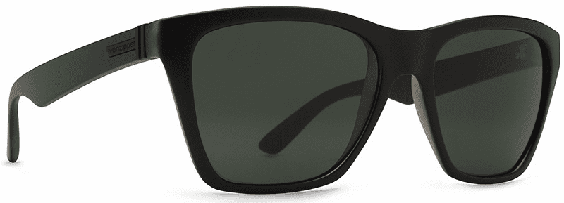 VonZipper Booker Sunglasses<br>Black Satin/Vintage Grey