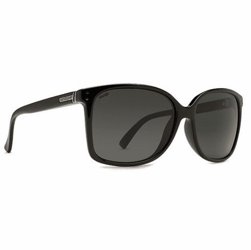 VonZipper Castaway Sunglasses<br>Black Gloss/Grey Poly Polarized