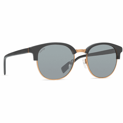 VonZipper Citadel Sunglasses<br>Black Satin/Wild Vintage Grey Polar