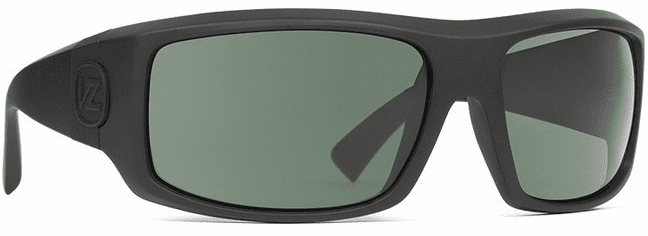 VonZipper Clutch Sunglasses<BR>Black Satin/Wild Vintage Grey Polar