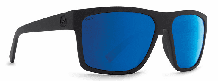 VonZipper Dipstick Sunglasses<br>Black Satin/Wild Blue Flash Polarized