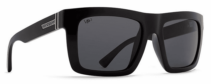 VonZipper Donmega Sunglasses<br>Black Gloss/Wildlife Vintage Grey Polar