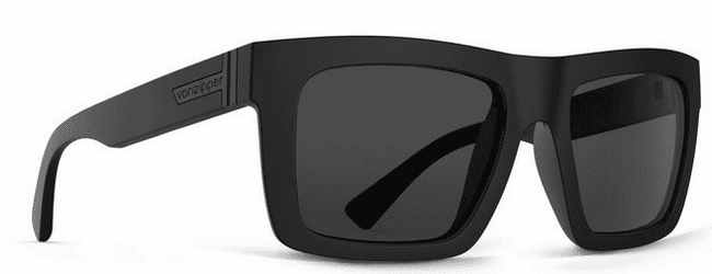 VonZipper Donmega Sunglasses<br>Black Satin/Grey