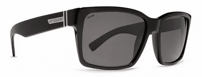 VonZipper Elmore Sunglasses<br>Black Gloss/Wild Vintage Grey Polarized