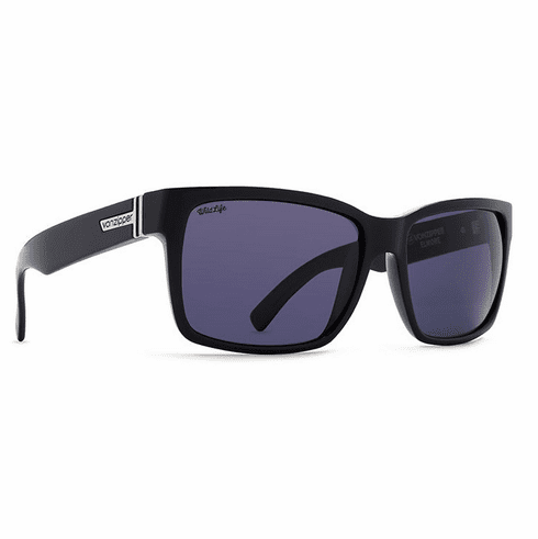 VonZipper Elmore Sunglasses<br>Black Gloss/Wildlife Vintage Grey Polar
