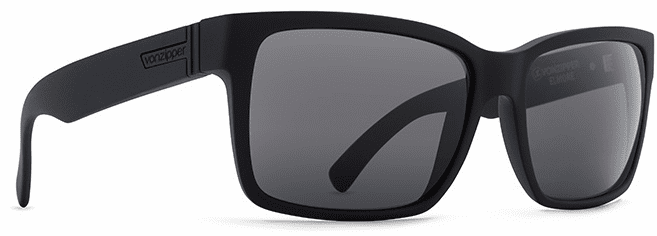 VonZipper Elmore Sunglasses<br>Black Satin/Grey