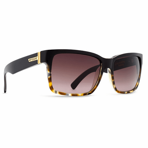 VonZipper Elmore Sunglasses<br>Black Tort/Brown Gradient