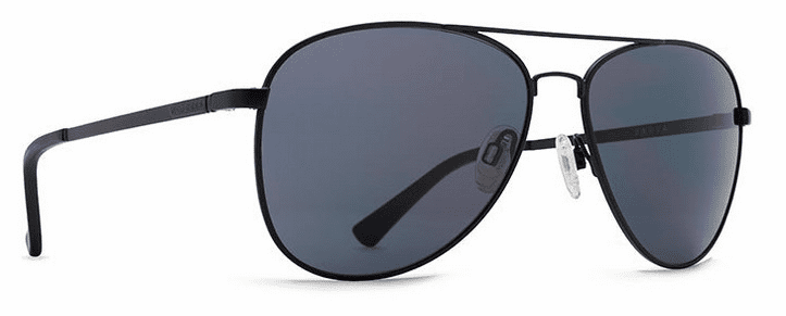VonZipper Farva Sunglasses<br>Black Satin/Grey
