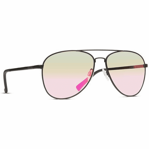 VonZipper Farva Sunglasses<br>Black Satin/Pink Chrome