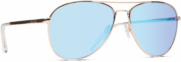 VonZipper Farva Sunglasses<br>Gold Gloss/Blue Chrome