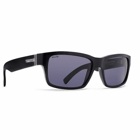 VonZipper Fulton Sunglasses<br>Black Gloss/Wildlife Vintage Grey Polar