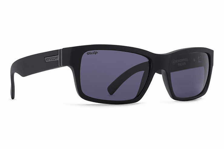 VonZipper Fulton Sunglasses<br>Black Satin/Wild Vintage Grey Polarized
