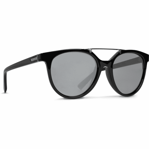 VonZipper Hitsville Sunglasses<br>Black Gloss/Silver Chrome