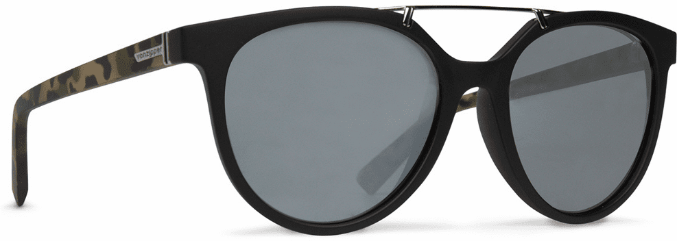 VonZipper Hitsville Sunglasses<br>Black Satin Camo/Silver Chrome