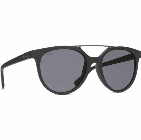 (SALE!!!) VonZipper Hitsville Sunglasses<br>Black Satin/Wild Vintage Grey Polar
