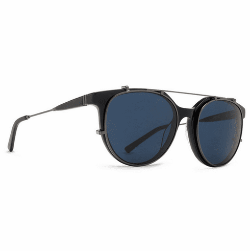 VonZipper Hyde Sunglasses<br>Black Gloss Satin Gumetal/Light Blue Vintage