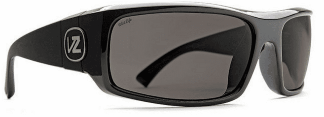 VonZipper Kickstand Sunglasses<br>Black Gloss/Wildlife Vintage Grey Polarized