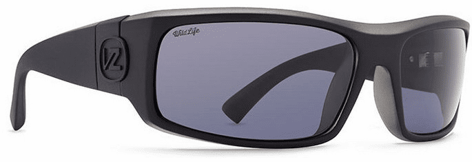 VonZipper Kickstand Sunglasses<br>Black Satin/Wild Vintage Grey Polarized