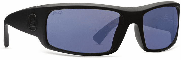 VonZipper Kickstand Sunglasses<br>Black Satin/Blue Flash Polarized